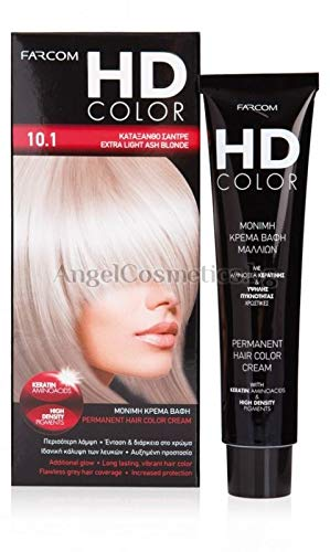 FARCOM HD Haarfarbe mit Keratin Aminosäuren 60ml (10.1 extra light ash blonde)
