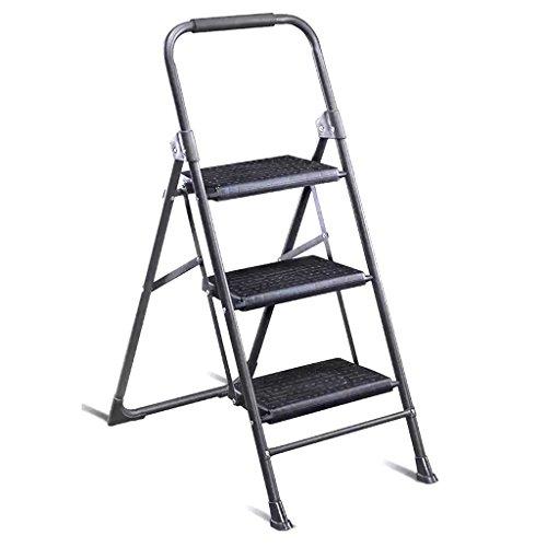 LRZLZY Haushaltsleiter Treppe Hocker Rolltreppe DREI oder Vier Stufenleiter Klappleiter Haushalt Kleiner Kletterleiter verdickte Fischgrät-Leiter Stabilität und Sicherheit (Size : 4 Step)