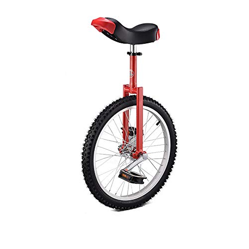 Unicycles for Adults Beginner 20 Inch Wheel Unicycle with Alloy Rim,Red