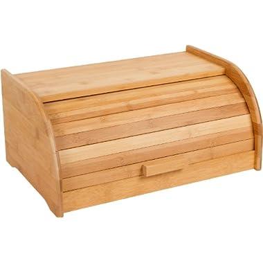 16  Rolltop Bamboo Bread Box By Trademark Innovations