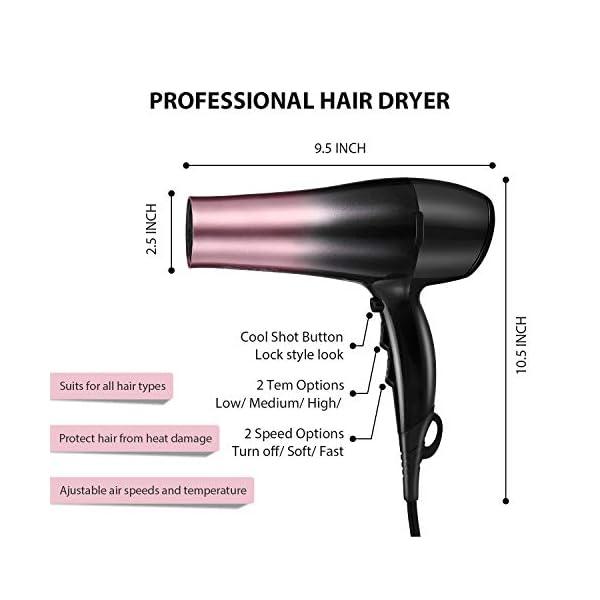 [category] KIPOZI Hair Dryer, 1875W Ionic Blow Dryer, Professional Powerful