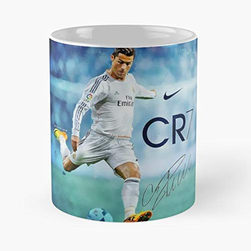 92Wear Soccer FIFA Ronaldo Cristiano Ball Mug Coffee Mugs for Gifts - Il Migliore Regalo per Tazza da caffè in Ceramica da 11 Once