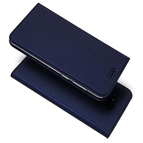 Ycloud Portafoglio Custodia per Honor 6C PRO Smartphone, Alta qualità PU Pelle Ultra Sottile Flip Caso Cover con Fessura Carte e Funzione Staffa (Blu)