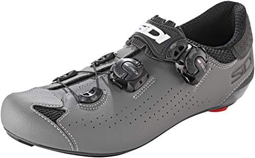 SIDI Genius 10 Chaussures de Cyclisme pour Homme, Noir Gris, 41,5