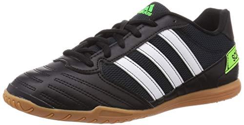 Adidas Super Sala, Zapatillas Deportivas Fútbol Hombre, Verde (Core Black/FTWR White/Solar Green), 45 1/3 EU