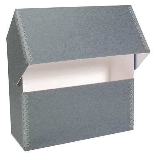 Lineco Archival Flip-Top Blue Gray Document Case Box 15.25' x 10.25' x 5'....