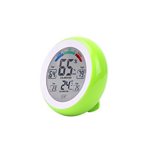 Qotone Digital Thermometer Hygrometer °C /°F Temperatur-Feuchtigkeitsmessgerät Max Min Wert Trendanzeige