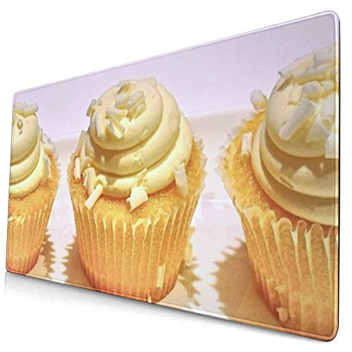 Mouse Pad Non-Slip Rubber Gaming Mouse Pad,-Lemon Cakecoconutsweet Fooddessert