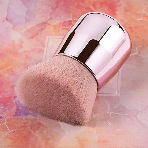 RN BEAUTY Large Mineral Powder Brush Foundation Brush Contour Brush Blush Brush Bronzer Brush Face Blender Buffing Blending Kabuki Makeup Brushes Thick And Dense Full Coverage (Angled Top, Pink)
