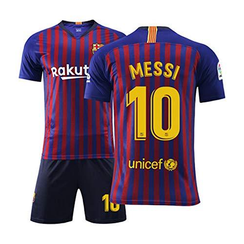 Herren Fußball Trikot Fußballuniform - # 10 Lionel Messi Barcelona Trikot, Alle Größen Kinder Erwachsene Sport Fußball Kleidung Anzug-2-L