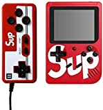 GSH SUP X Game Box 400 in One Colourful LCD Screen USB Rechargeable Portable Retro Battery Handheld Game with Mario , Contro any many more games Console Can Connect to A TV 2 Player (Only 2nd player play with remote) ( Mix Color Available )