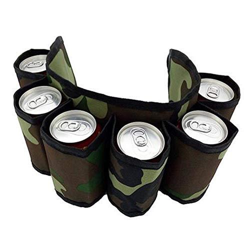 didatecar Bierdosen Gürtelhalter Bier Gurtel Bier Holster Camouflage Reisetasche Mit Verstellbarem Gürtelriemen Für Wandern Camping Picknick Strand Grillen