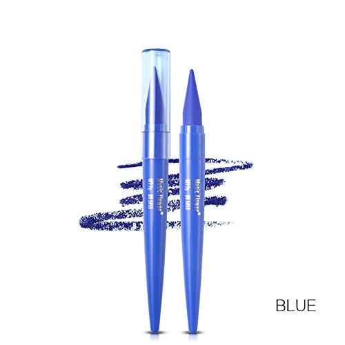 Beito 1 PC Coloré Eyeliner Haute Eyeliner Pigmenté Crayon Étanche Eye-liner Sourcils Stylo À Maquillage Outil Cosmétique Outil de Mélange Parfait Pour Ligne Précise (Bleu)