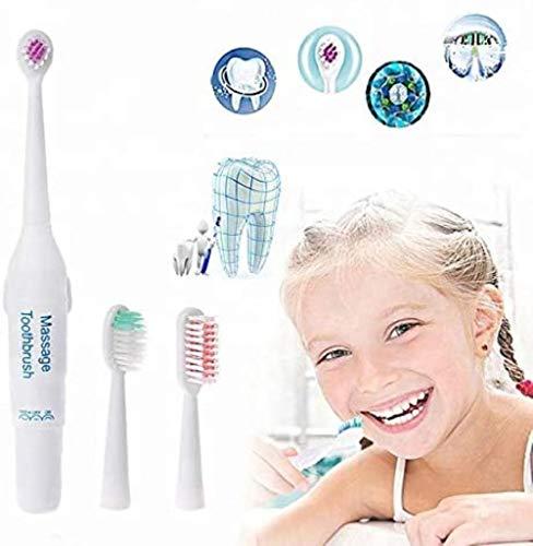 Grote elektrische tandenborstel For Kids tandenborstel Volwassene + 3 Heads tandenborstel, Portable en de compacte afmetingen van de gloeidraad Extra Soft, IPX7 waterdicht