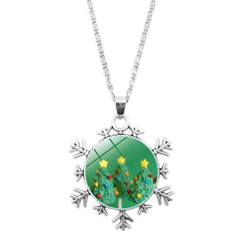 DZX Time Gemstone Jewelry, Delicioso y Fresco Helado navideño, Pulsera de Copos de Nieve navideños, Collar Europeo y Americano, joyería de Cristal, Regalo de Moda