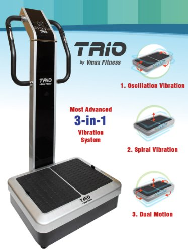 Best Bargain Vmax Fitness TRIO Whole Body Vibration Machine; DUAL vibration, 3 vibration modes; Prem...