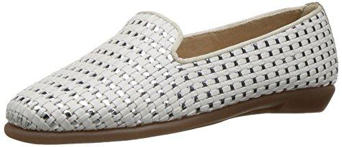 Aerosoles Women's Betunia Slip-On Loafer, White, 8.5 M US