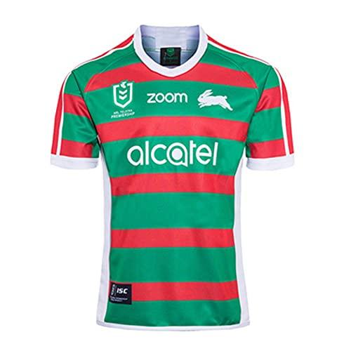 South Sydney Rabbitohs Camiseta De Rugby para Casa Y para El Extranjero,19/20 Rugby Uniform Training Jersey Away Rugby T-Shirt Away-XXL