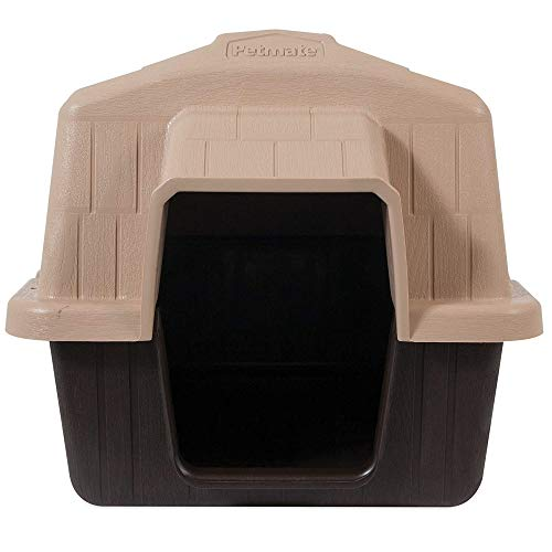 Petmate Aspen Pet Petbarn Dog House Snow and Rain Diverting Roof Raised Floor No-Tool Assembly 4 Sizes Available, Multi, UP to 15 LBS