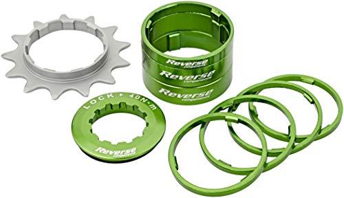 Reverse Single Speed - Kit de herramientas para monomarcha (13 dientes), color verde