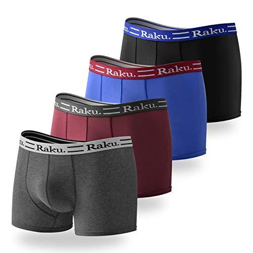 raku. Boxershorts Herren 4er Pack Sport Unterhosen Männer Unterwäsche Men Retroshorts Boxer Baumwolle M, L, XL, XXL, 3XL,4XL
