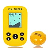OVETOUR Portable Fish Finder Handheld Wireless Sonar Fishfinders, LCD Display with Water Depth, Fish Location, Fish Size, Weeds and Rock for Kayak Boat Ice Fishing