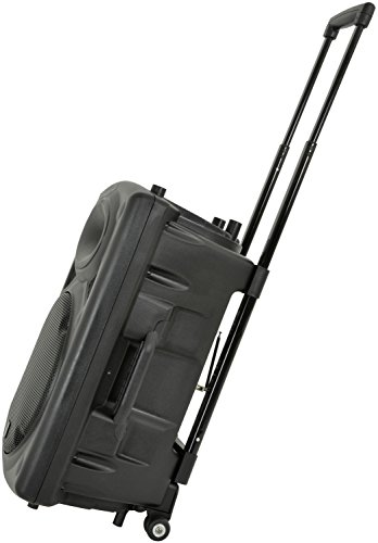 QTX QR15PA Tragbares Verstärkersystem PA-System mit VHF kabellosem Handmikrofon mit akkubetriebenem Lautsprecher und iPod-Anschluss-Kabel