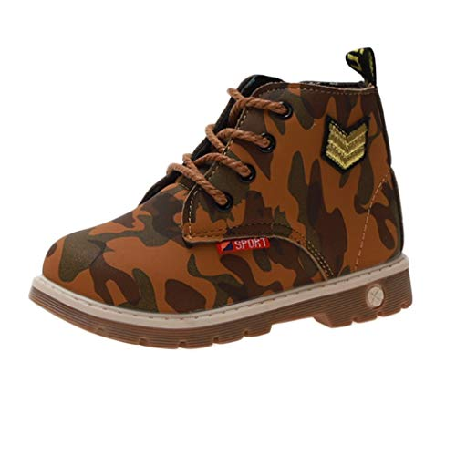 Children Kids Infants Baby Girls Boys Camouflage Print Sport Casual Shoes Boots  Children's Boys and Girls Camouflage Printed Non Slip lace up Sports Boots Ankle Boots