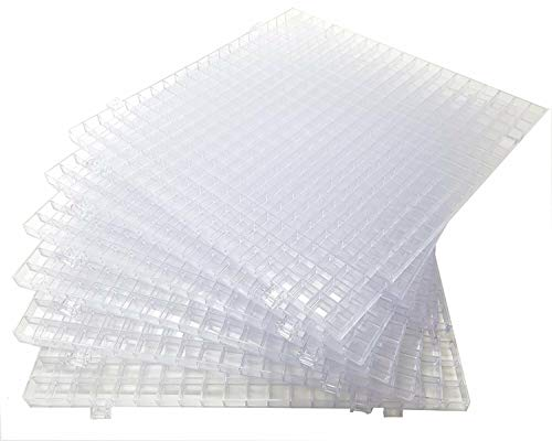 Creators Waffle Grid 6-Pack - As Seen On HGTV/DIY Cool Tools Network - 100% USA - Solid Bottom Modular Surface - Glass Cutting, Small Parts, Liquid Containment, Grow Room, Etc. - Home, Office, Shop
