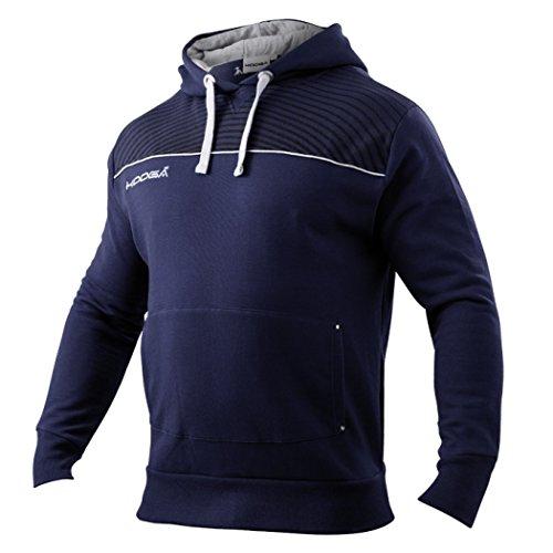 Kooga Teamwear - Felpa con Cappuccio, Blu (Navy/Grigio), S