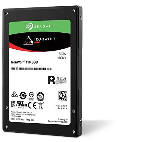 Seagate ZA240NM10011 IronWolf 110 SSD 240 GB interne SATA SSD voor NAS, 6,35 cm (2,5 inch) tot 560 Mb/s, zwart, FFP (Frustvrije verpakking))