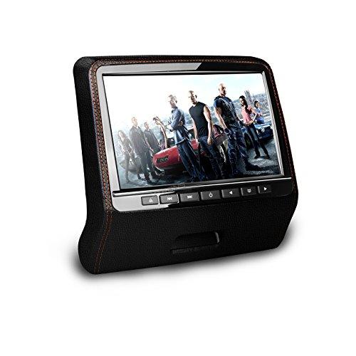 XTRONS 9  HD Active Car Pillow Headrest Monitor Portable DVD USB Player Game HDMI (HD9PCHBlack(Single))