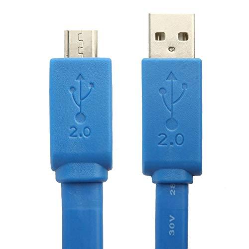 CGL Case Ricarica Veloce trasferimento Dati USB del Telefono Mobile di Dati di Stile della tagliatella Micro USB di 5 Pin/Cavo di Ricarica, Adatto a Galassia S6 / S IV / i9500, HTC One / M7, Nokia L
