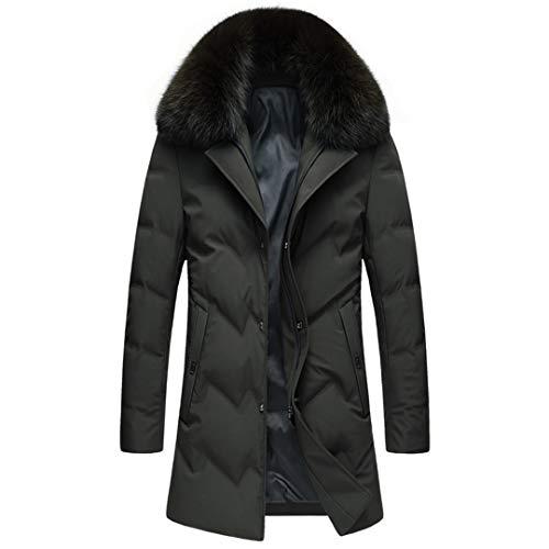 Herren Daunenjacke verdicken 90% weiße Entendaunen Mäntel Jacke warmen Mantel Green XXL