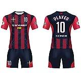 Custom Sportwear Team Soccer Jerseys 2019 Design red/Black Sport Uniform with Name and Number (L)