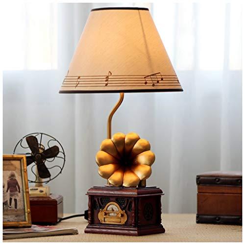 Miss You Cabeza de la máquina de fonógrafo Retro lámpara lámpara de Mesa símbolo Musical