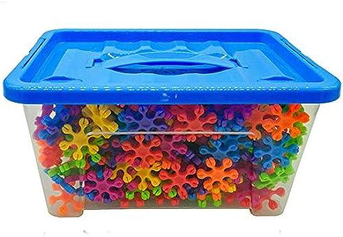 Gububi 1500 Stücke Schneeflocke bausteine  tamm p gogisches Spielzeug Set für Kinder kreativ & entwicklung anschluss Spielzeug für Vorschule Jungen und mädchen