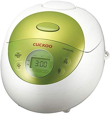 Cuckoo CR-0351FG Rice Cooker, 11.5 x 7.8 x 8.8 inches (Green)