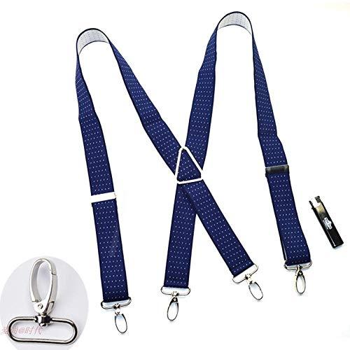 Hundetasche Braces/Suspenders Haak gesp riemen mannen brede vier clip haak gesp dames vier clip broek bretels