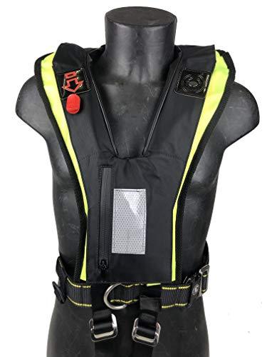 CERTEC Chaleco salvavidas hinchable Rafal negro y amarillo