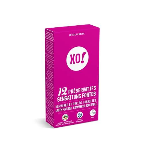 XO! - Caja de 12 preservativos de látex natural y veganos fuertes