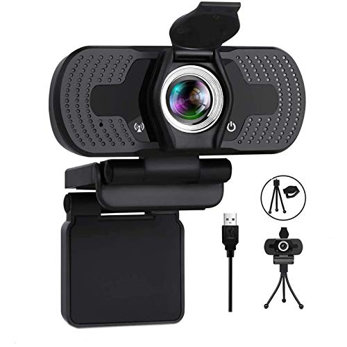1080P Webcam with Microphone Microsoft USB 2.0 Plug in Play Computer Web Camera Plug and Play Desktop Laptop Webcam for Windows 10 Mac OS for Video Calling Streaming Conference Gaming Online Classes