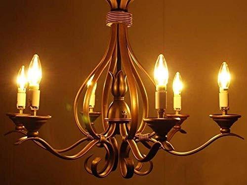 Chrasy 5-Pack 4W E14 Filament Bulb 360LM (45 Watt Equivalent) E14 Base LED Bulb Edison Light Bulb C35 Vintage Edison Bulb Candle Light Warm White 3000K AC 110V
