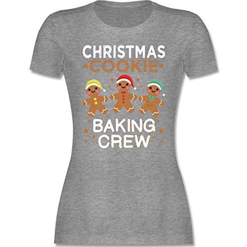 Weihnachten & Silvester - Christmas Cookie Baking Crew - 3 Kekse - S - Grau meliert - Rundhals - L191 - Tailliertes Tshirt für Damen und Frauen T-Shirt