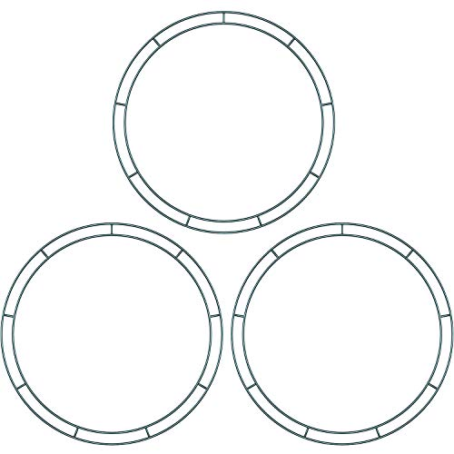Sumind Flat Wire Rings Wire Wreath Frame Wire Wreath Making Rings for New Year Valentines Decoration (3, 10 Inches)