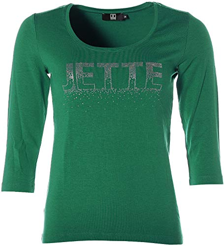 JETTE® Joop Shirt Strass Glitzer 3/4-Arm Grün 38