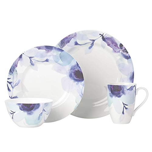 Lenox Indigo Watercolor Floral 4pc Place Setting, 5.55 LB, Blue