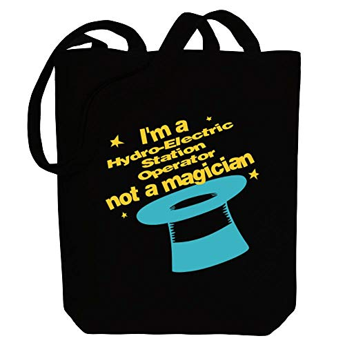 Idakoos I'm a Hydro Electric Station Operator, not a magician Canvas Tote Bag 10.5