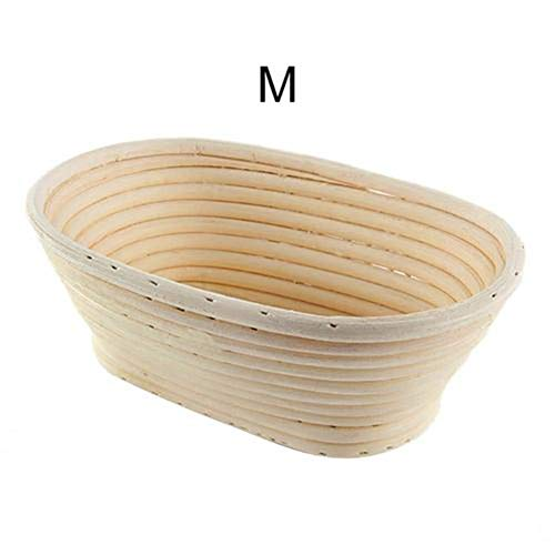 Motto.H Gärkörbchen Peddigrohr Oval, Cesta de Migas de Pan Gärkörbe, Forma de Brote Natural, Plantillas de Decoración de Pan para Panadero Casero y Panificación benchmark