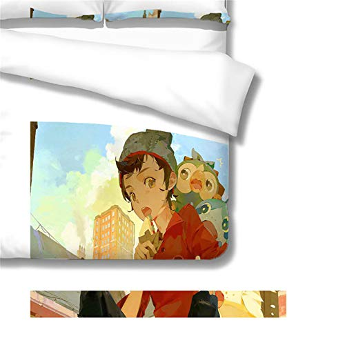 Itscominghome Bettbezug, Anime, 3D-Druck, verschiedene Farben zur Auswahl, 100 % Mikrofaser (Anime02,135 x 200 cm)